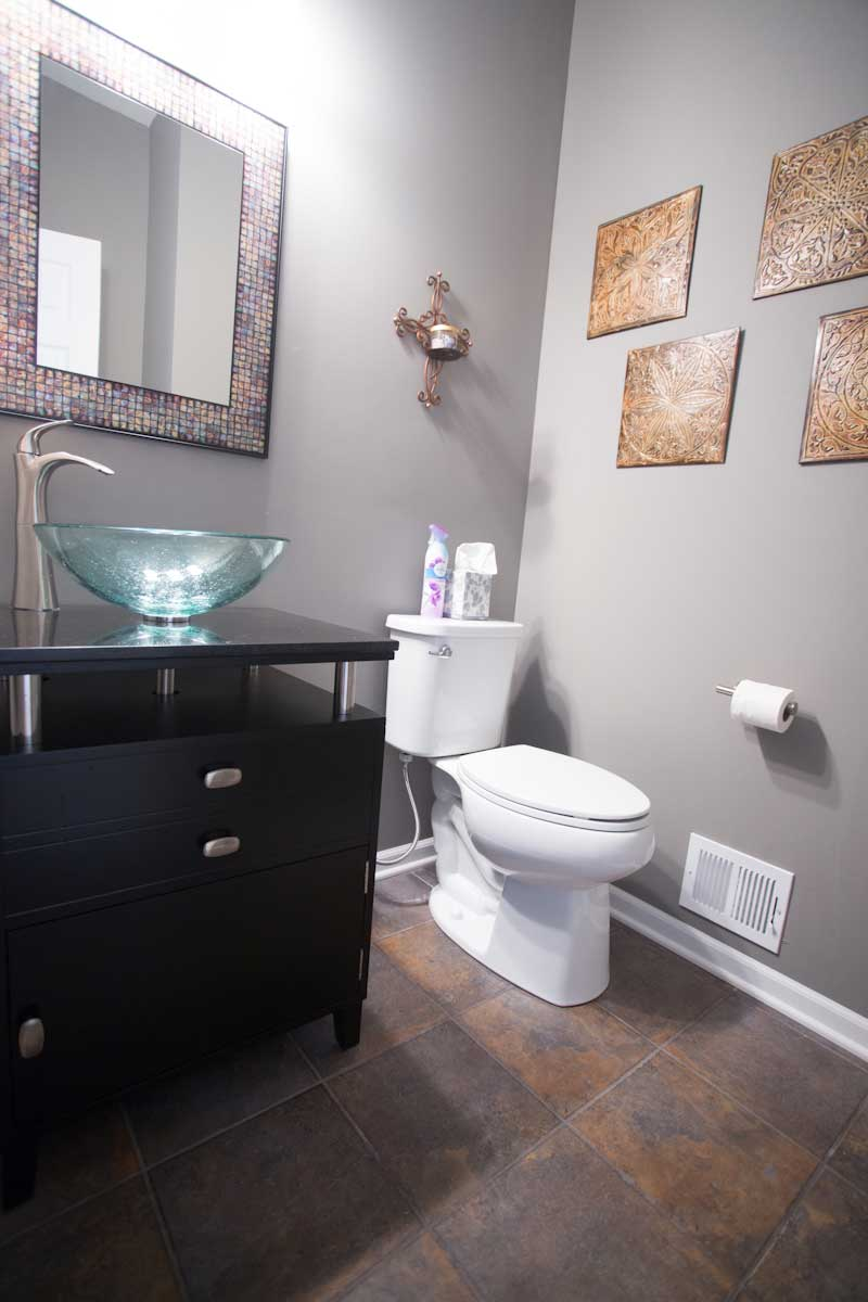 contemporary vessel sink and vanity