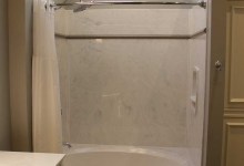 solid surface shower