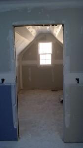 sheetrock new closet